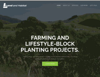 landandhabitat.co.nz screenshot
