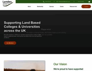 landex.org.uk screenshot