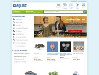 landing.carolina.com screenshot