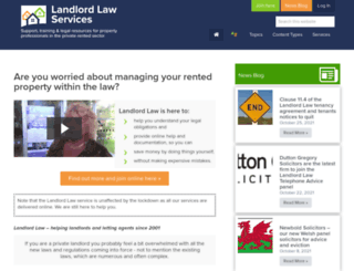 landlord-law.co.uk screenshot