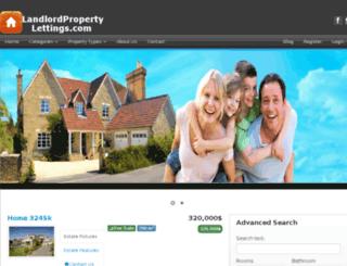 landlordpropertylettings.com screenshot
