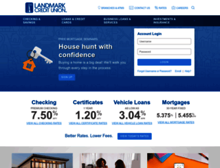 landmarkcu.com screenshot