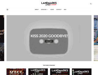 landmarkslive.com screenshot