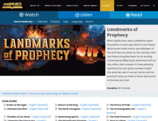 landmarksofprophecy.com screenshot