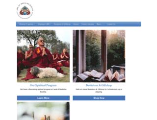landofmedicinebuddha.org screenshot