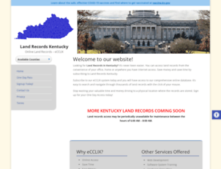 landrecordskentucky.com screenshot