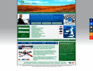 landregistryservice.co.uk screenshot