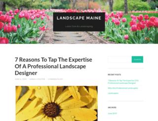 landscapemaine.com screenshot