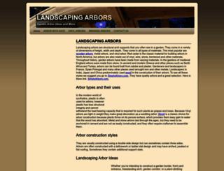 landscapingarbors.com screenshot