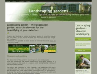 landscapinggardens.org screenshot