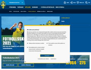 landslagetsfotbollsskola.se screenshot