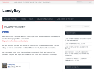 landybay.co.uk screenshot