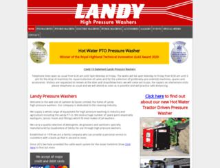 landypressurewashers.co.uk screenshot