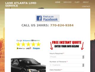 laneatlantalimo.net screenshot