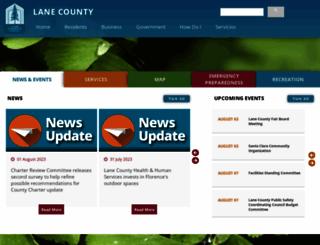 lanecounty.org screenshot