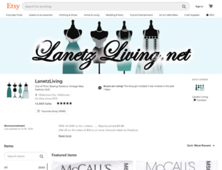 lanetzliving.net screenshot