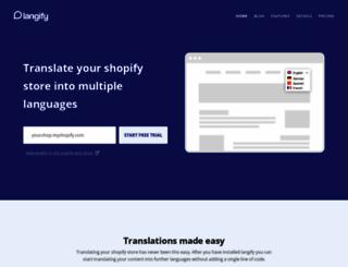 langify-app.com screenshot