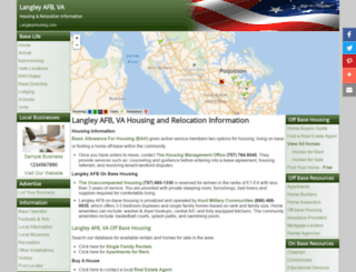 langleyhousing.com screenshot