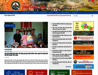 langson.gov.vn screenshot