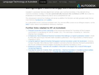 langtech.autodesk.com screenshot