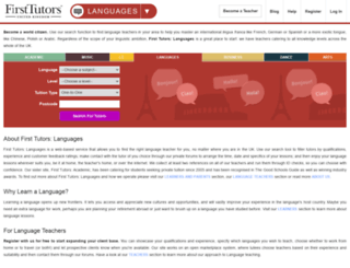 language-learning.firsttutors.co.uk screenshot