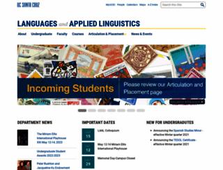 language.ucsc.edu screenshot