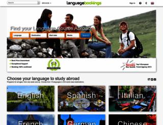 languagebookings.com screenshot
