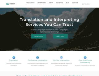 languageexchangeinc.com screenshot