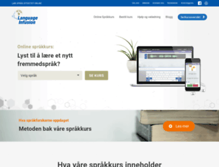 languageinfusion.no screenshot