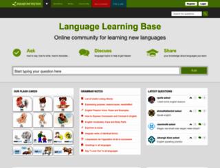 languagelearningbase.com screenshot