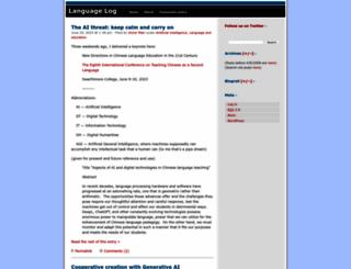 languagelog.ldc.upenn.edu screenshot