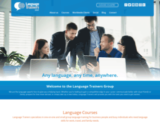 languagetrainersgroup.com screenshot