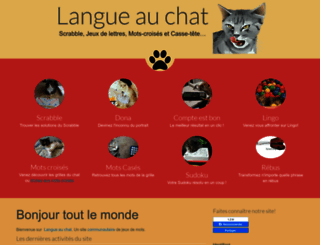 langue-au-chat.fr screenshot