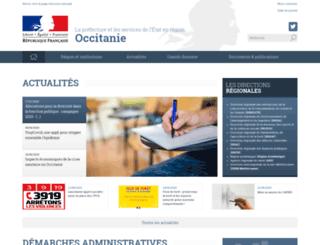 languedoc-roussillon.pref.gouv.fr screenshot