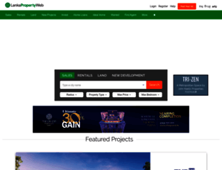 lankapropertyweb.com screenshot