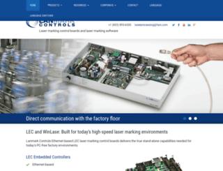 lanmarkcontrols.com screenshot