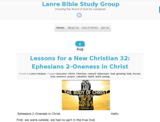 lanrebiblestudygroup.com screenshot