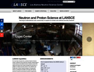 lansce.lanl.gov screenshot