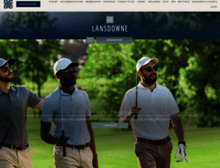 lansdowneresort.com screenshot