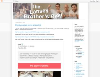 lanseybrothers.blogspot.com screenshot