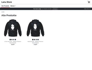 lanustore.spreadshirt.net screenshot