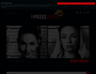 lanxess-arena.de screenshot