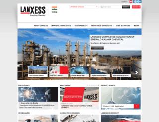 lanxess.in screenshot