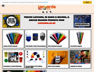 lanyards.co.uk screenshot