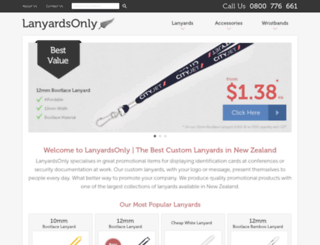 lanyardsonly.co.nz screenshot
