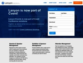 lanyonevents.com screenshot