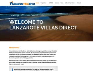 lanzarotevillasdirect.com screenshot