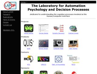 lap.umd.edu screenshot