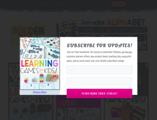 lapbooklessons.com screenshot