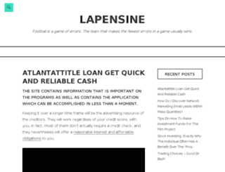 lapensine.com screenshot
